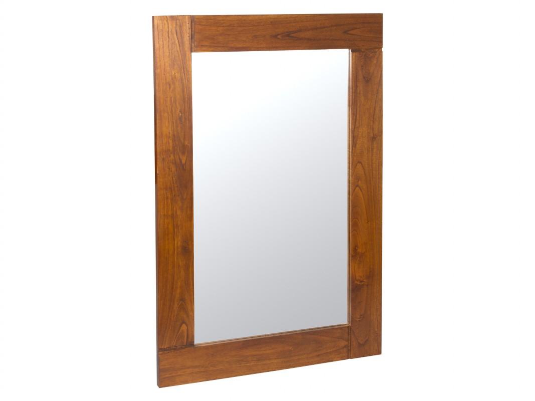 Espejo de madera estilo colonial espejos decorativos for Espejos de pared madera
