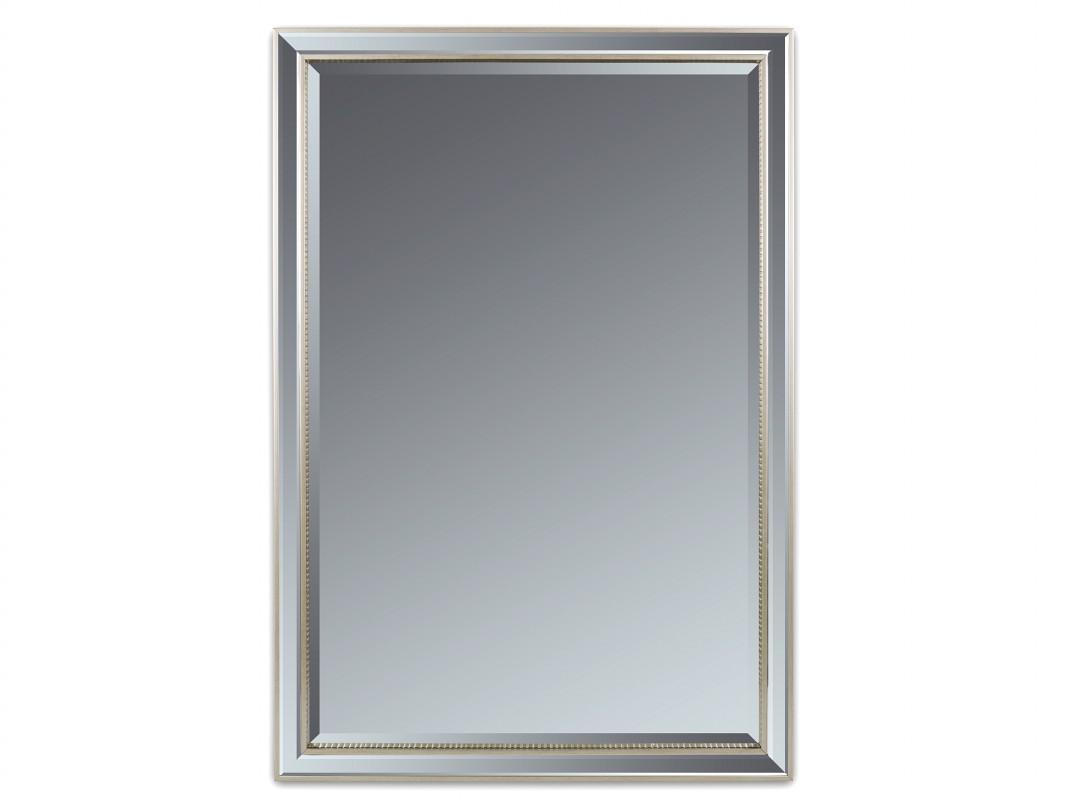 Espejo biselado plata 70x100 cm con doble marco de resina - Espejos de resina ...