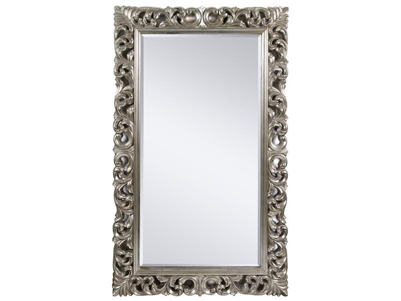 Espejo plata envejecida estilo barroco espejos online for Espejo vintage plateado