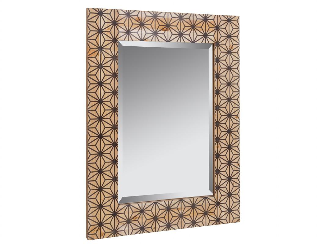 Espejo retro pop estampado de madera envejecida espejos for Espejo madera envejecida