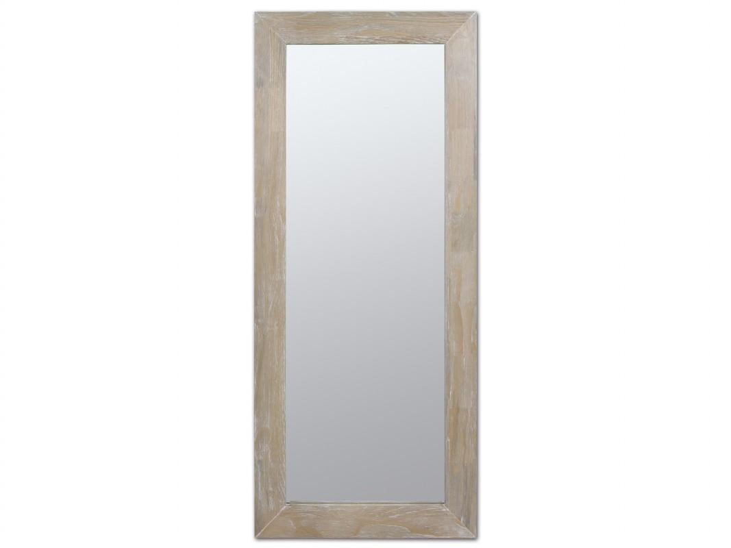 Espejo avejentado rectangular para pared de madera vintage for Espejo rectangular