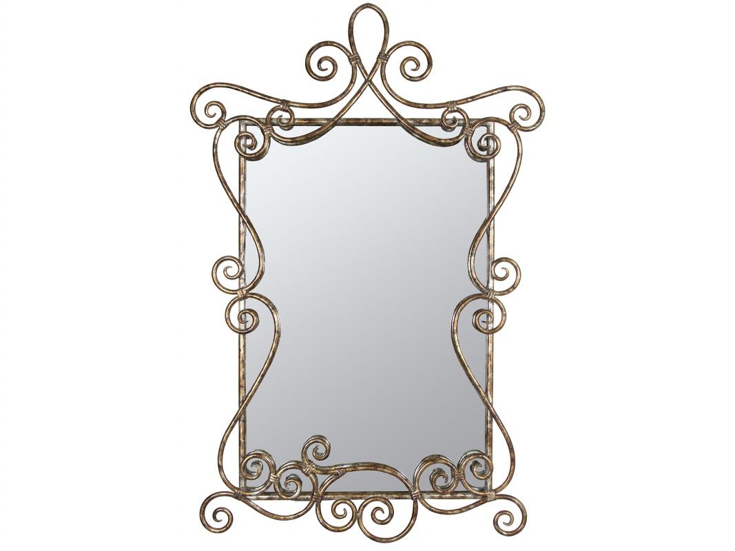 Espejo rococo de metal envejecido venta de espejos online for Espejo envejecido