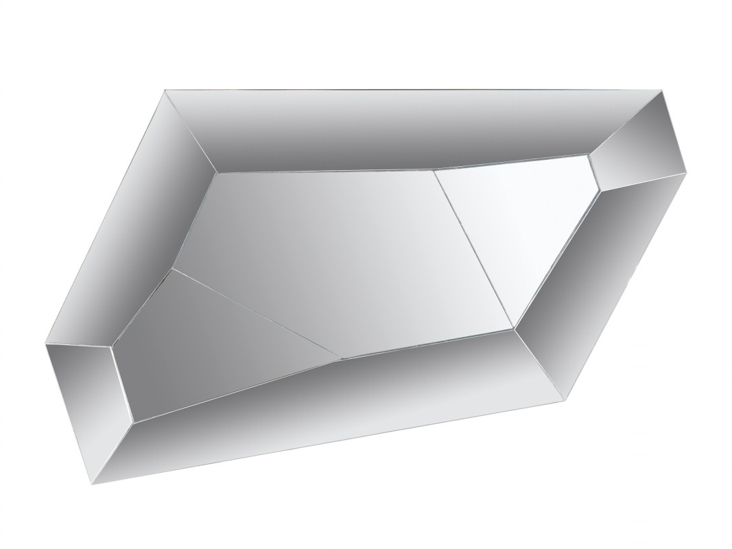 Espejo sin marco de diseño irregular para recibidor o salón.
