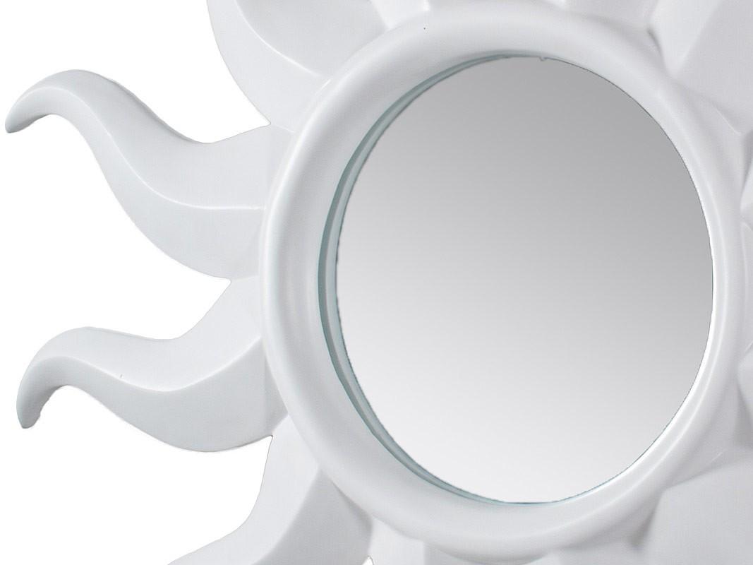 Espejo sol blanco de pared grande 116x116 cm for Espejo grande blanco
