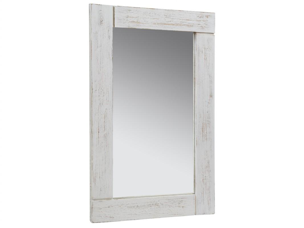 espejo blanco vintage de madera decapada espejo blanco tiza