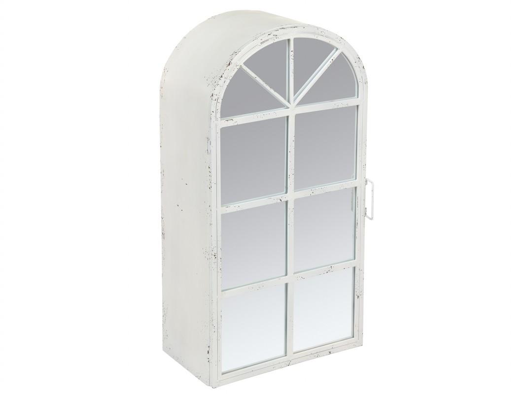 Armario peque o de hierro con espejo y cuarterones color for Armarios fondo 30 cm