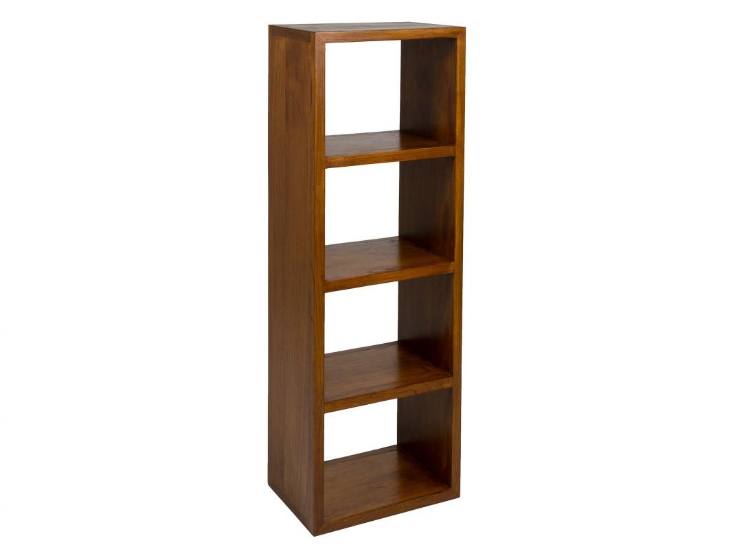 Mueble Librería Estrecha Colonial 4 Módulos Forest