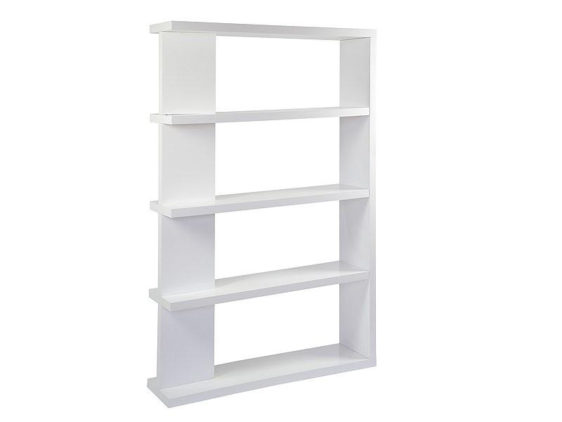 Estanter a blanca de pie alta con 4 estantes de dm lacado for Estanteria bano blanca