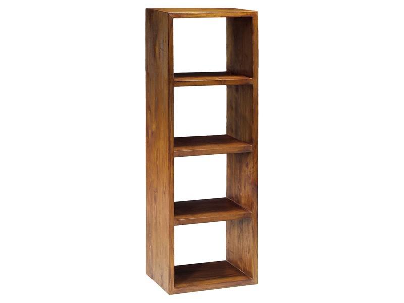 Mueble librer a estrecha estilo colonial con 4 m dulos - Estanterias pequenas de madera ...