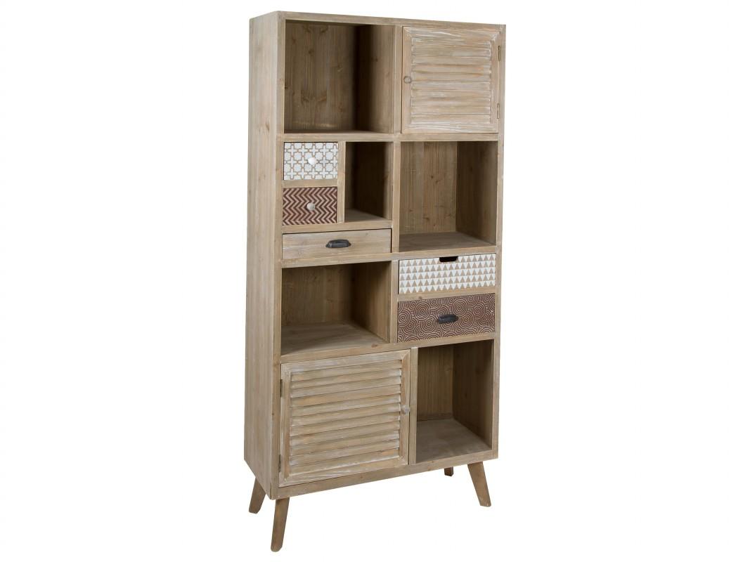 Estanter a vintage estilo industrial de madera de abeto for Estanteria estilo industrial
