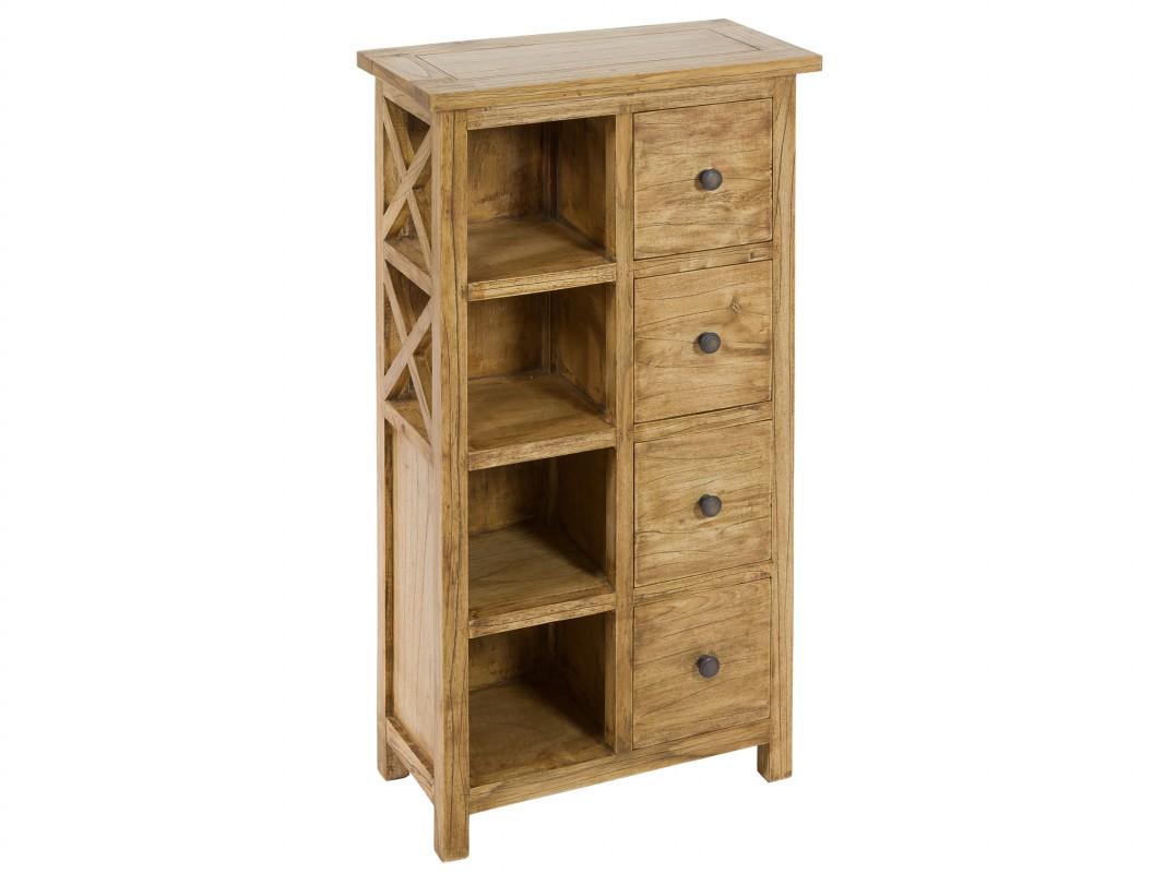 Estanter a peque a de madera con cajones muebles online - Estanterias pequenas de madera ...