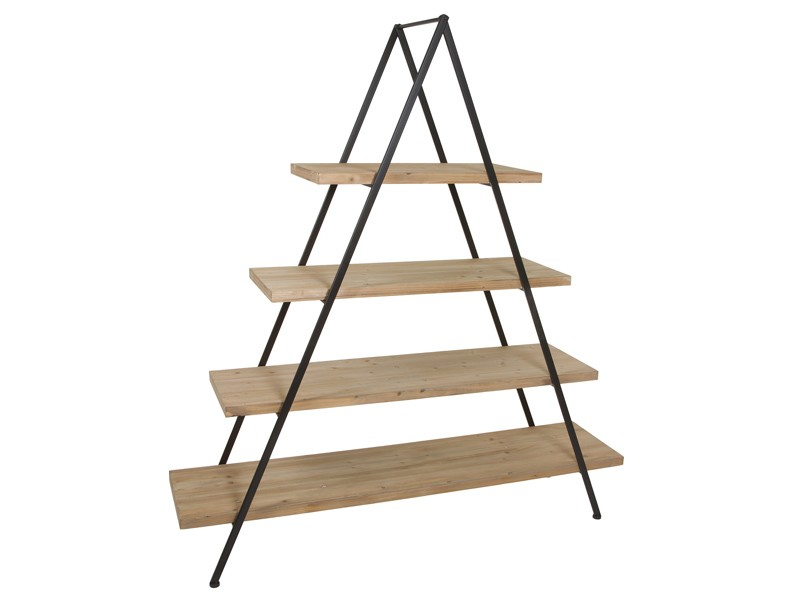 Estantería pirámide de metal y madera estilo industrial b6685eaf2a43