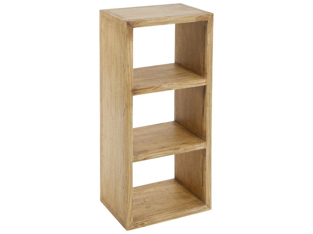 Estantes r sticos de madera de acacia con acabado envejecido - Lacar un mueble de madera ...