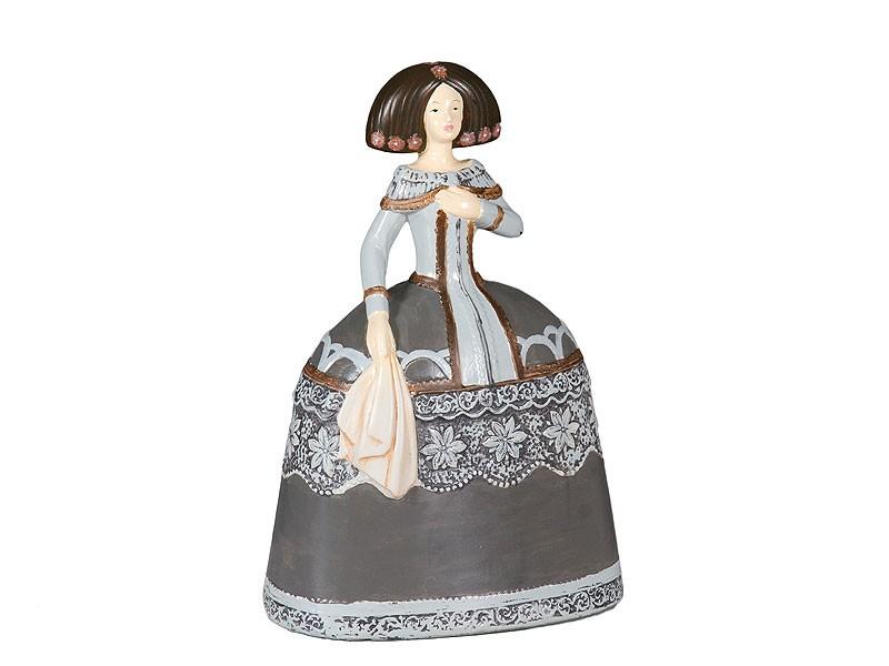 Figura de cer mica decorativa menina pintada for Figuras ceramica