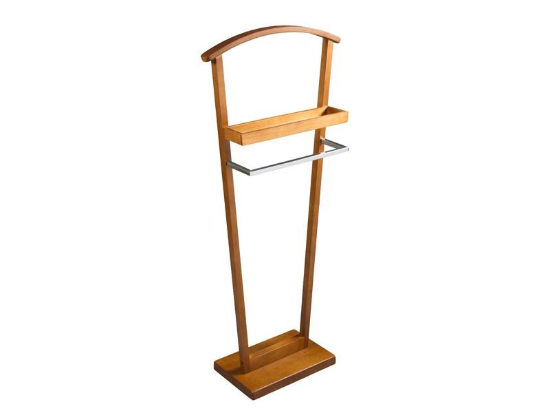 Gal n de noche de madera percheros para dormitorio - Percheros de madera ...