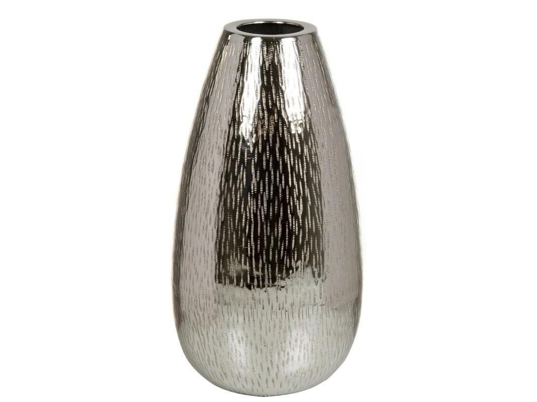 Jarr n plateado de niquel 20x20x39 cm jarrones decorativos - Jarrones plateados ...