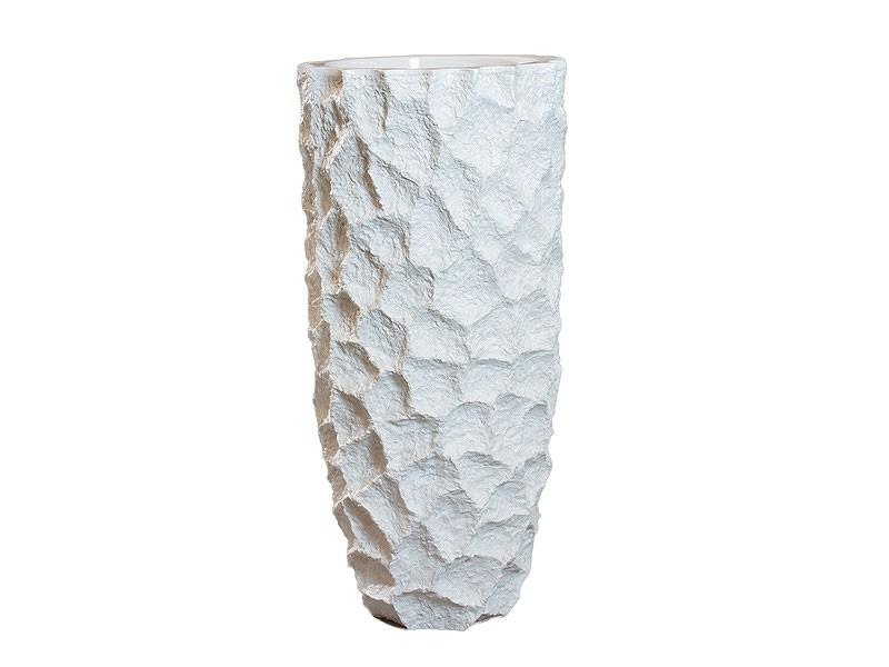 Jarr n de suelo con aspecto de yeso de poliresina for Revisteros de suelo