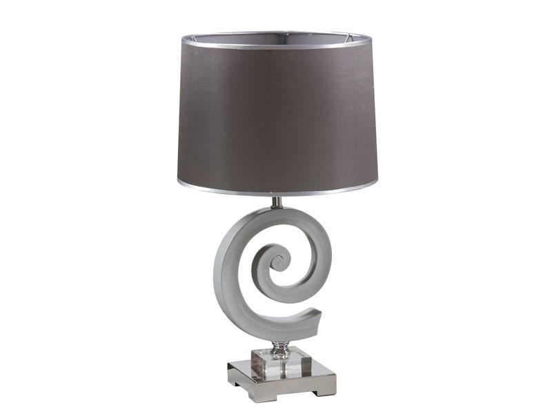 L mpara de noche moderna con forma de espiral color gris - Lampara salon moderna ...