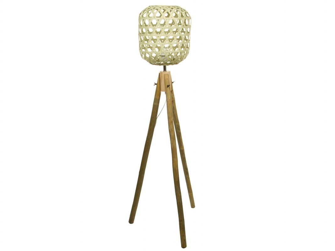 L mpara de pie de bamb para decorar e iluminar la casa - Lamparas de pie para recibidores ...