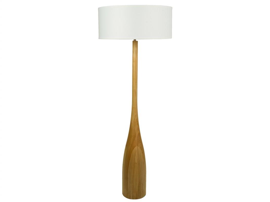 L mpara pie madera moderna comprar l mpara de suelo - Lampara de pie madera ...