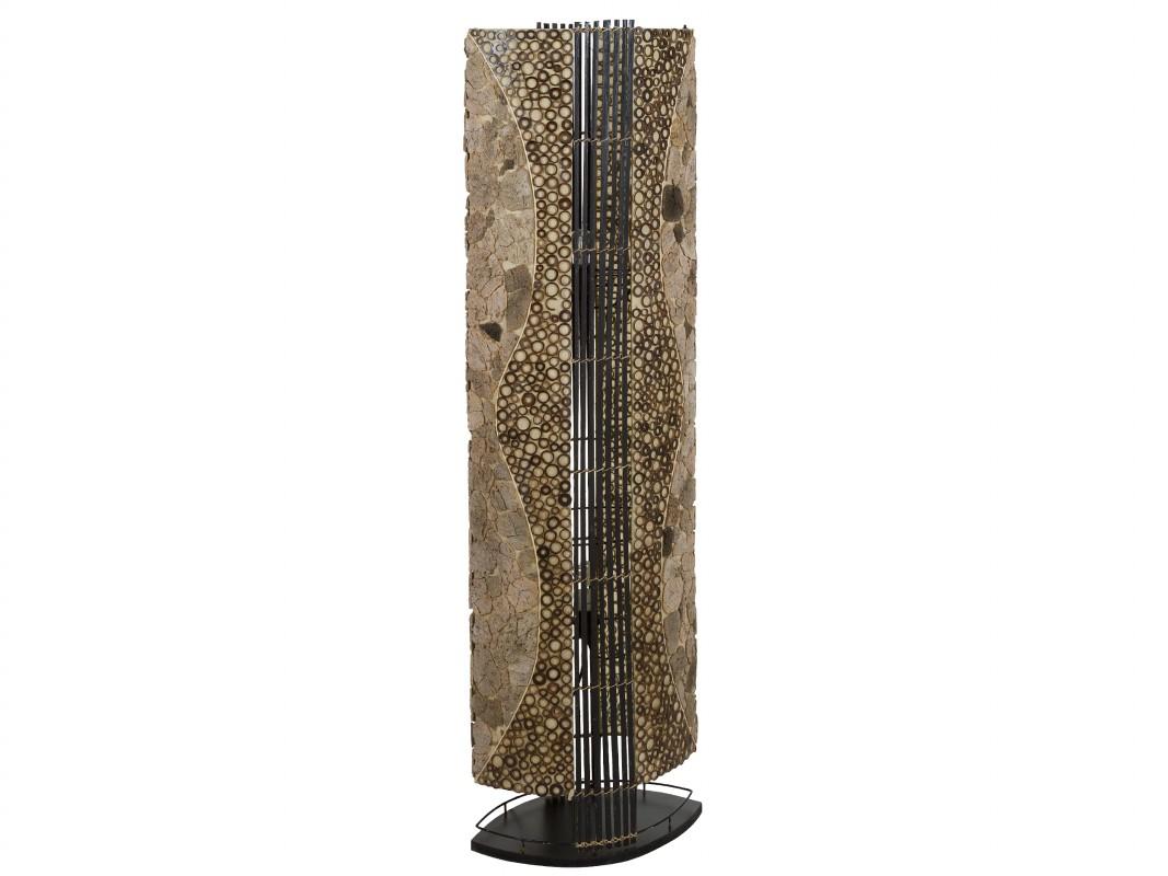 L mpara de suelo de bamb estilo vintage para decorar la casa - Suelo de bambu ...