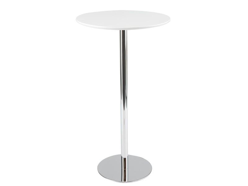 Mesa alta bar redonda de aluminio y pvc muebles online - Mesas altas para bar ...