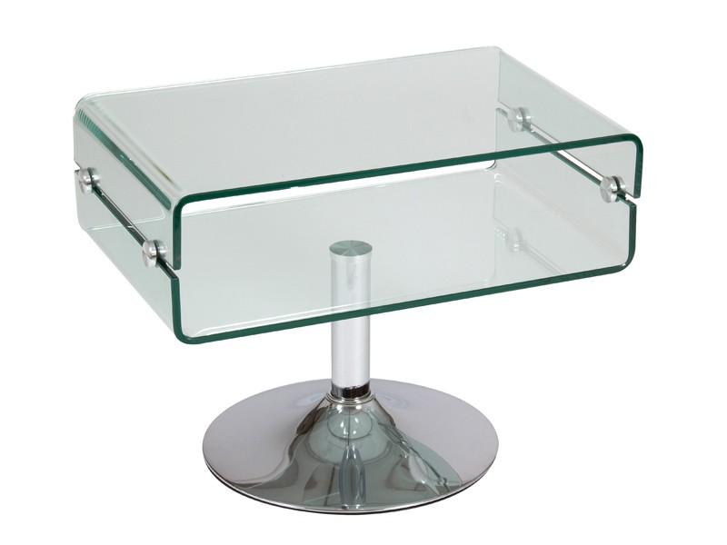 Mesa auxiliar de vidrio transparente mesas para sal n Mesas de cristal pequenas