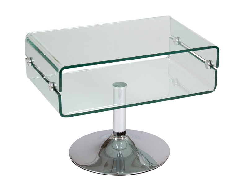 Mesa auxiliar de vidrio transparente mesas para sal n - Mesitas auxiliares de cristal ...