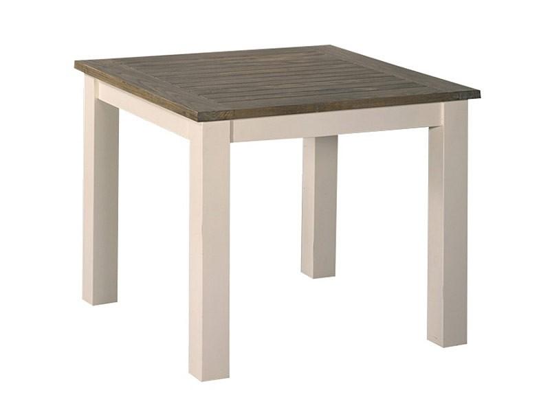 mesa auxiliar cuadrada de madera de teca
