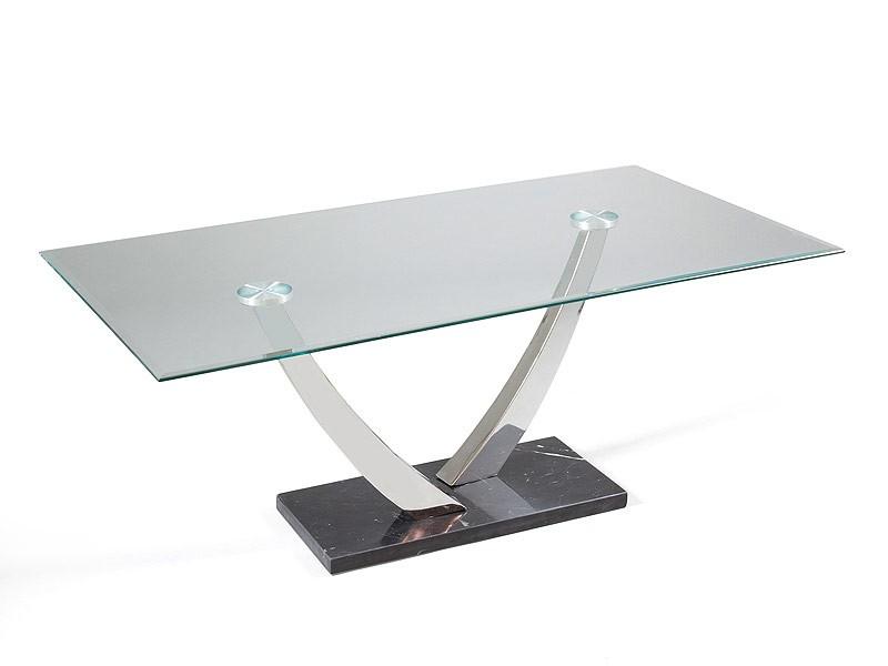 Mesa auxiliar para sal n de cristal y m rmol - Mesas de marmol y cristal ...