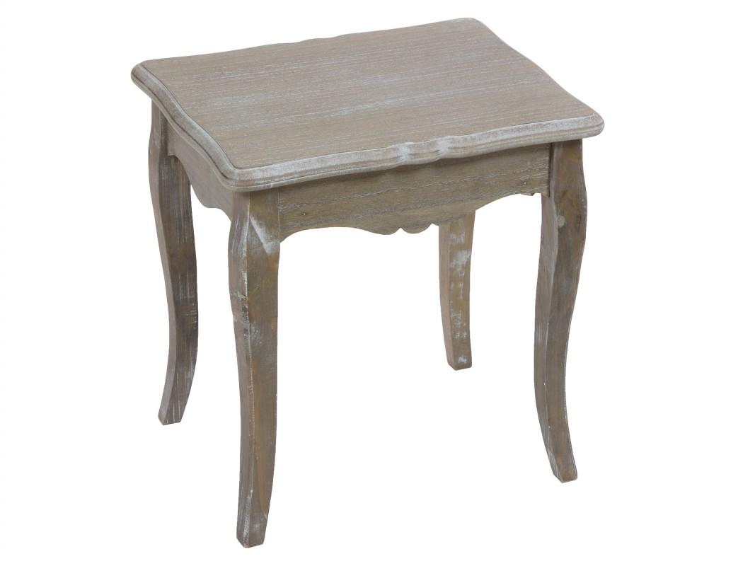 Mesa baja vintage madera decapada mesas auxiliares salon for Mesas vintage