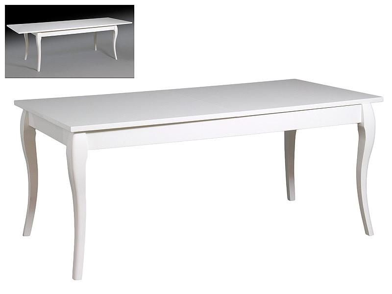 Mesa blanca extensible para comedor for Mesas de salon blancas