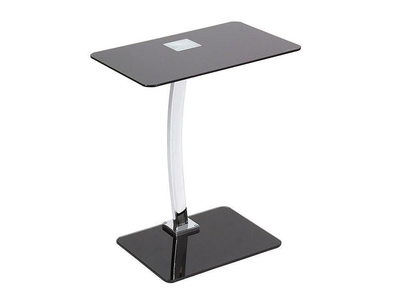 Mesa cafe cristal y aluminio de estilo moderno y minimalista - Mesitas auxiliares de cristal ...