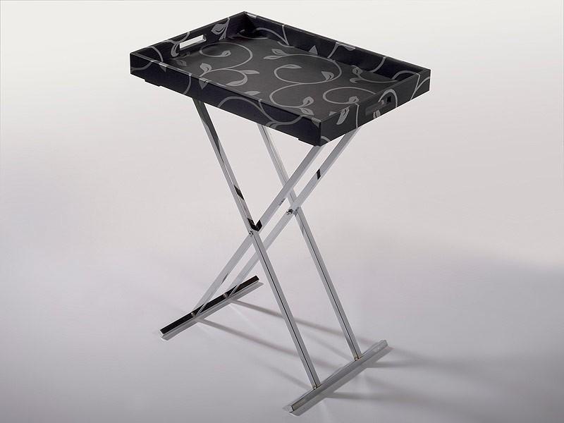 Mesa camarera plegable con asas y pies cromados for Mesa camarera plegable