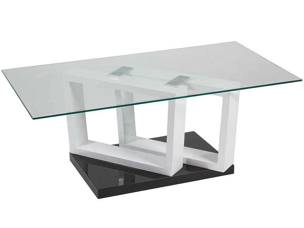Mesa centro de cristal y dm rectangular 110 cm de ancho for Cristal para mesa rectangular