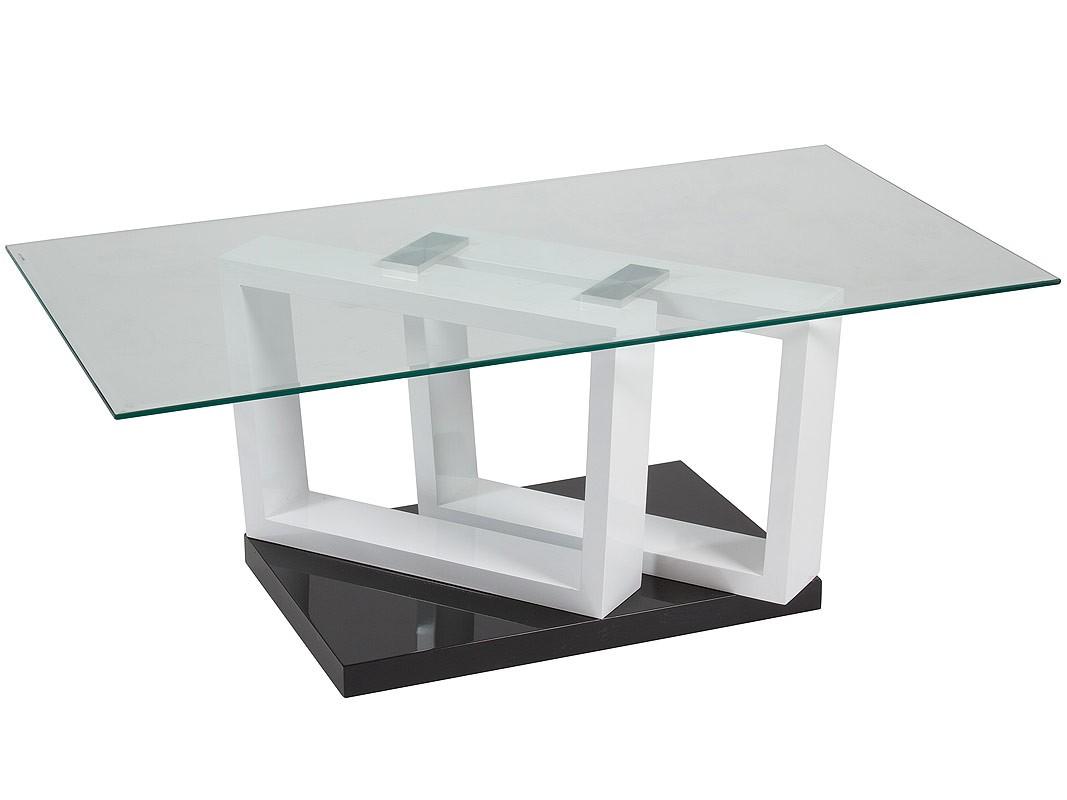 Mesa centro de cristal y dm rectangular 110 cm de ancho - Mesas de centro de cristal modernas ...