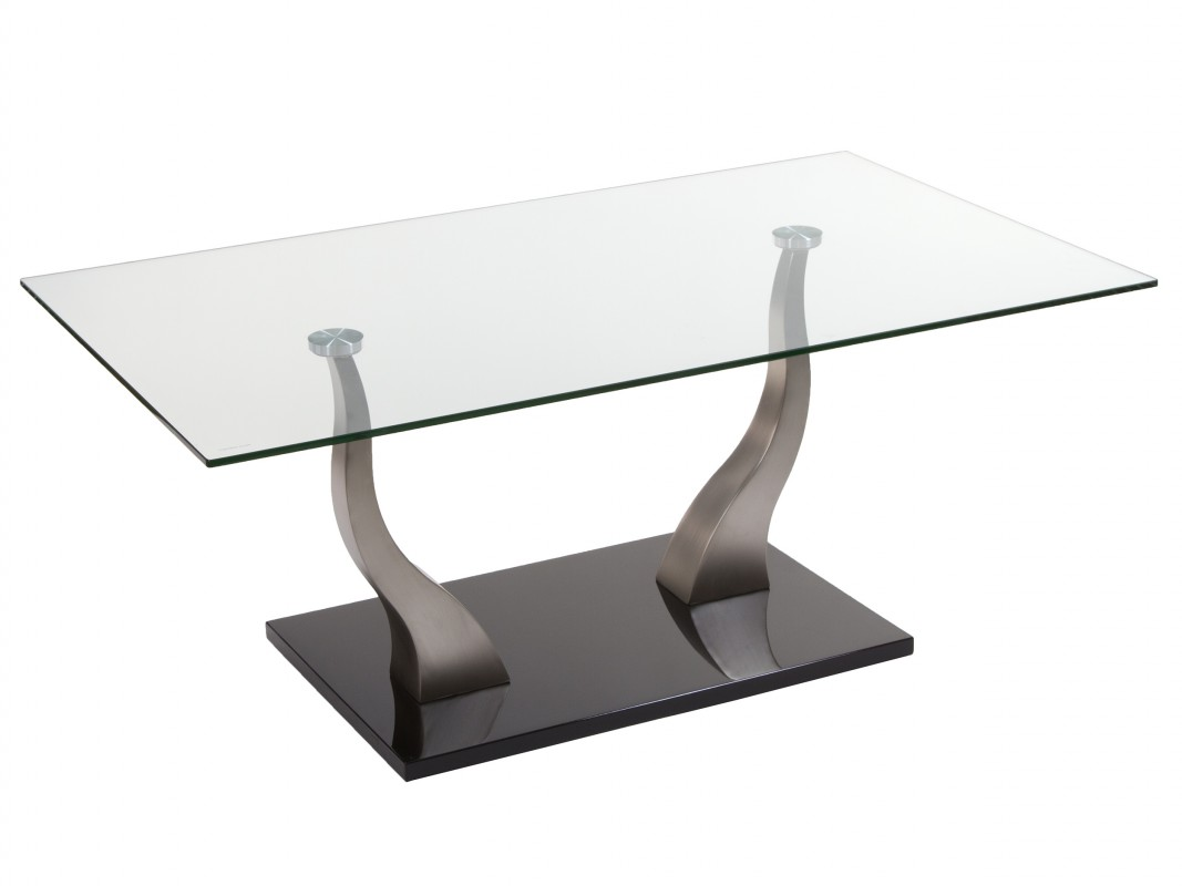 Mesa ratona de vidrio templado y acero estilo moderno - Mesas de centro de cristal ...