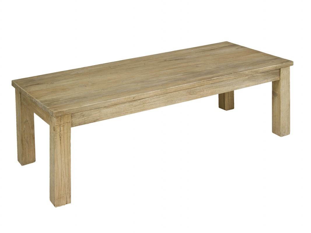 Mesa de centro barata de madera envejecida estilo r stico - Mesas de centro rusticas ...