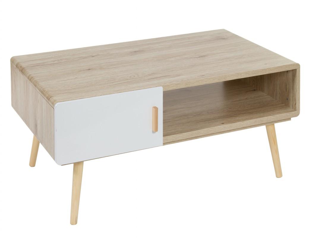 mesa de centro escandinava blanca y nogal venta online