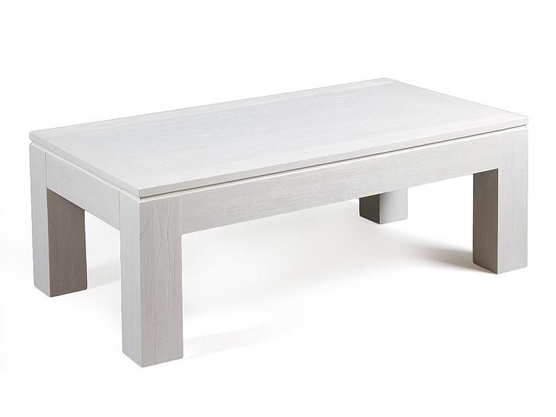 Mesa centro blanca en madera de mindi for Mesa de centro blanca