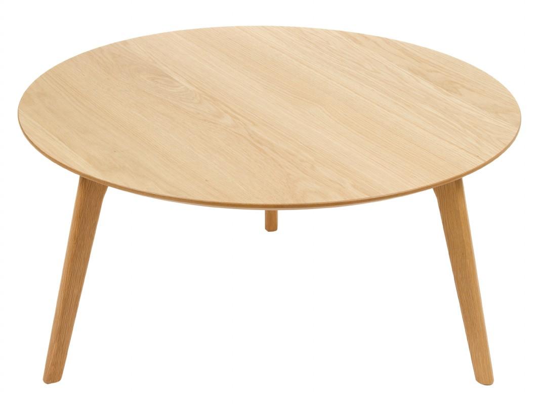 Mesa de centro redonda laminada en roble mesas redondas - Mesas de centro redondas amazon ...