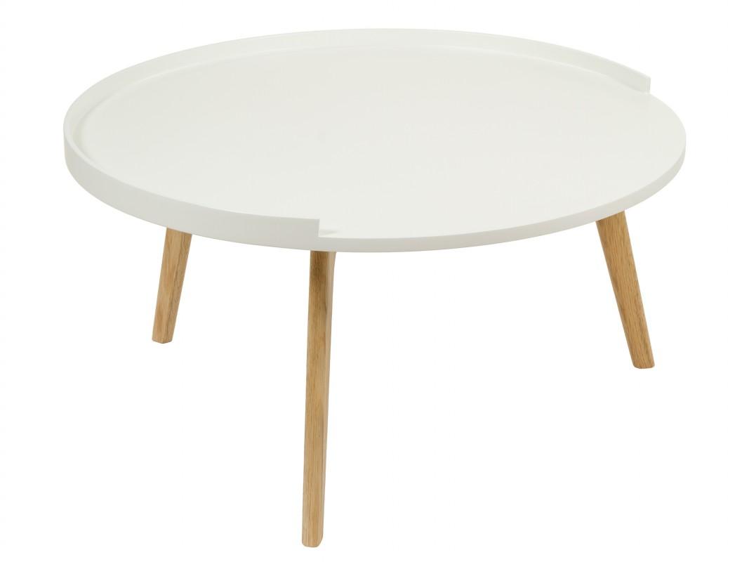 mesa de centro redonda blanca