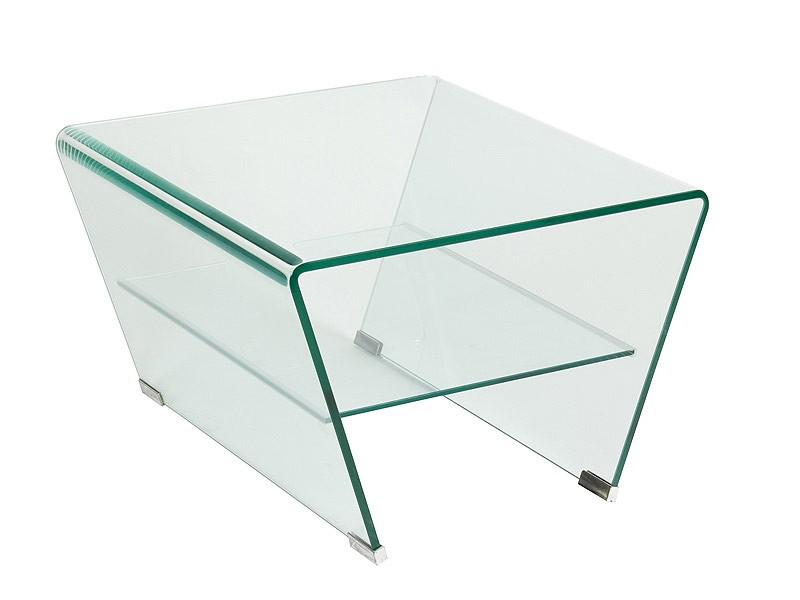 Mesa centro peque a de vidrio con estante inferior - Mesa de centro vidrio ...