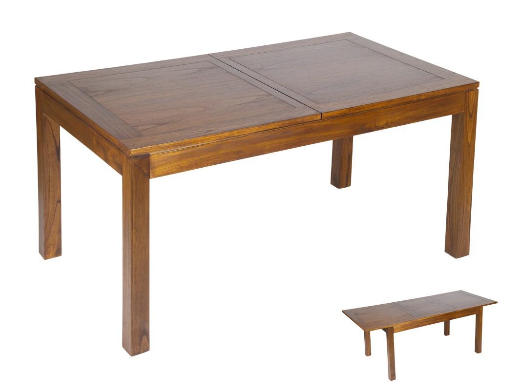 Mesa comedor agrandable de madera de mindi estilo colonial for Mesas estilo colonial