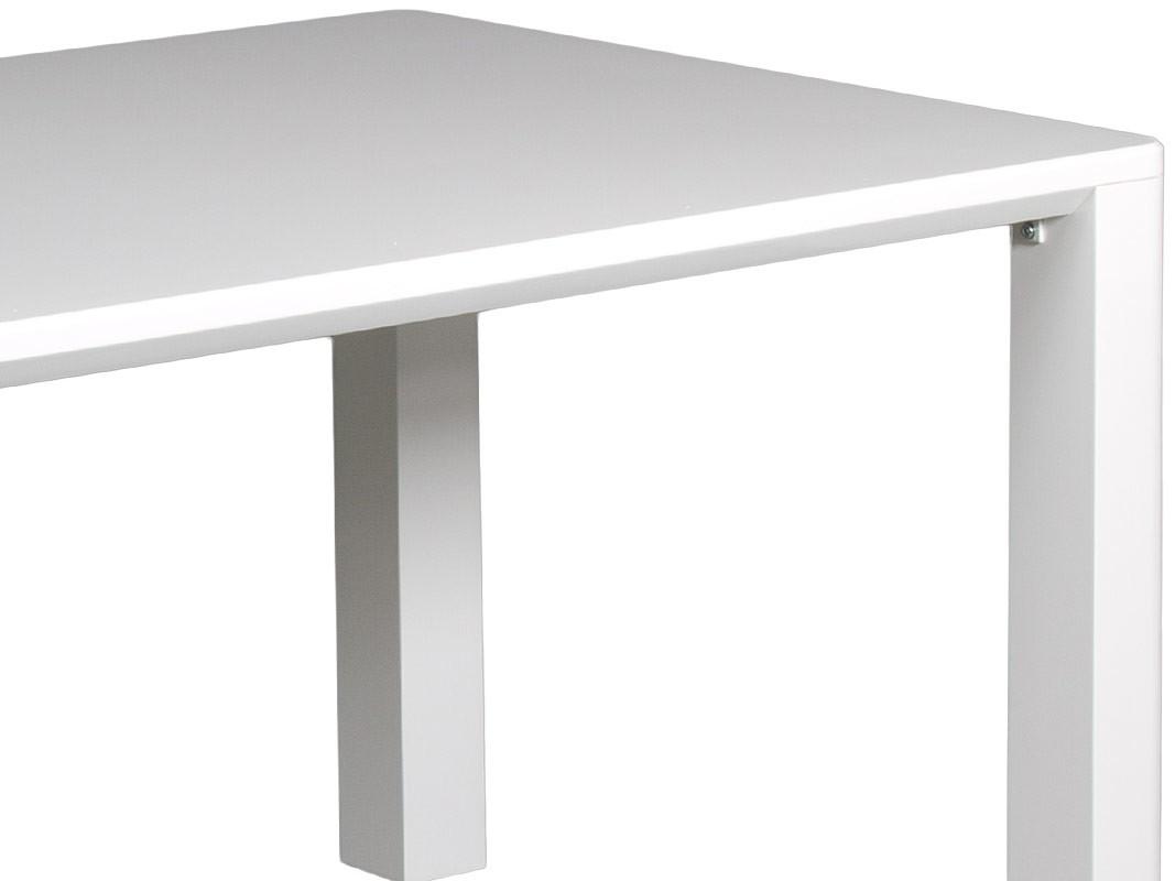 Mesa comedor blanca de estilo moderno de dm lacado for Mesas de comedor blancas