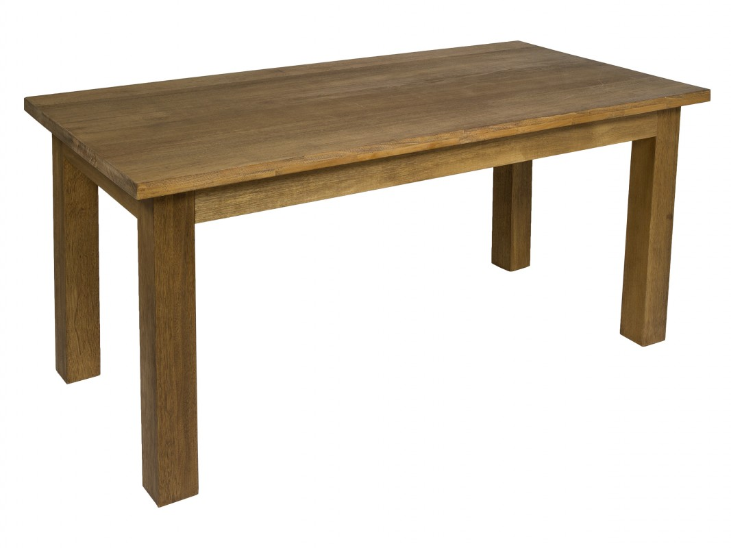 Mesa de comedor r stica de madera de teca color marr n - Mesa comedor madera rustica ...