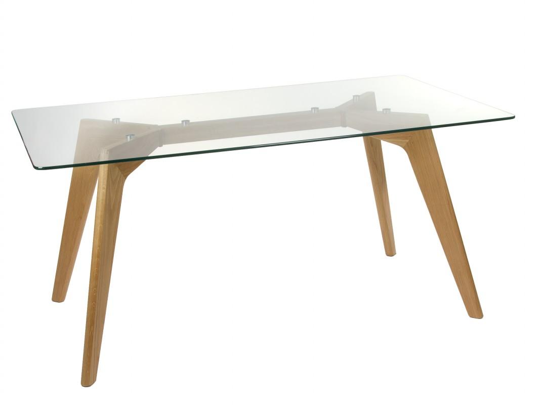 mesa comedor madera y cristal templado mesas de comedor