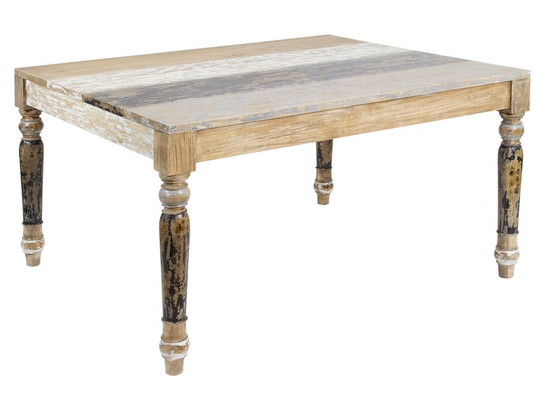 mesas de comedor vintage de madera decapada - Mesa Comedor Vintage