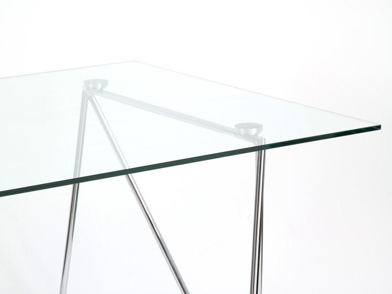 Mesa moderna de cristal y aluminio de 160 cm for Mesa cristal moderna