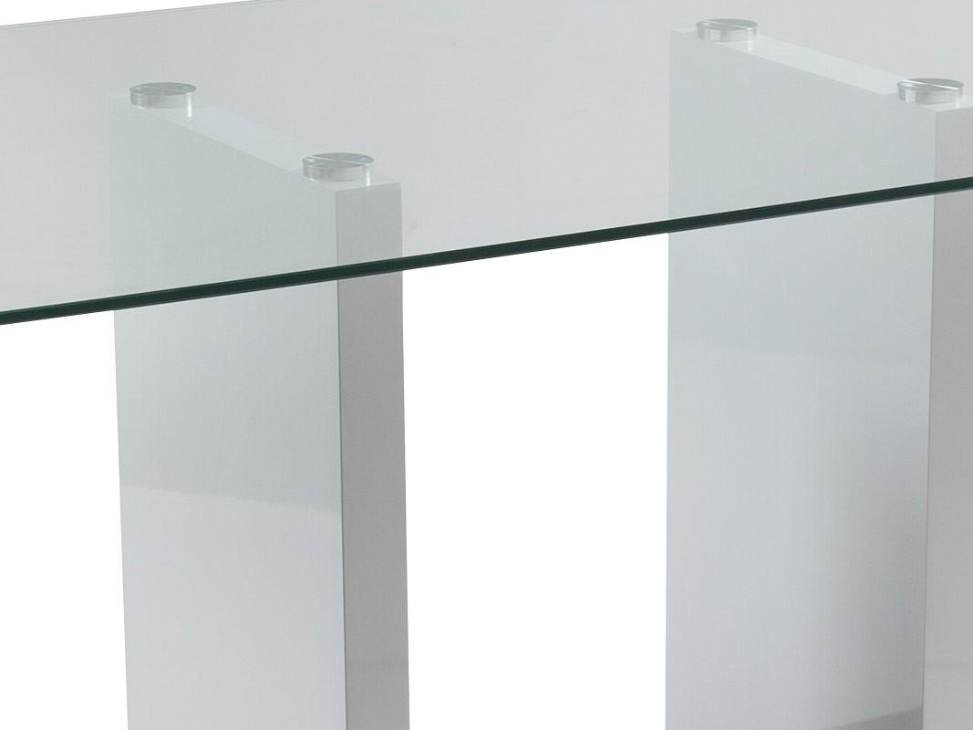 Mesa cristal comedor y sal n de 150 cm - Mesas de comedor modernas de cristal ...